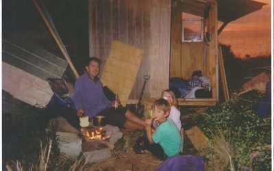 The early days in a tiny house.